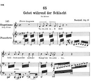 gebet wâhrend der schlacht d.171,  low voice in f major, f. schubert