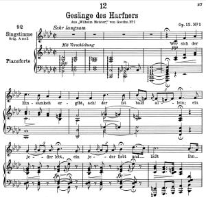 """gesänge des harfners d.478-1 """"wer sich der einsamkeit ergibt"""",  low voice in f minor, f. schubert"""