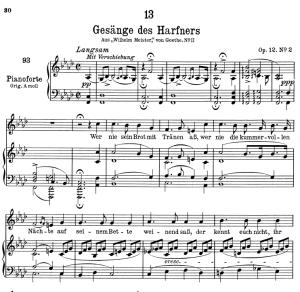 gesänge des harfners d.478-2,  low voice in f minor, f. schubert