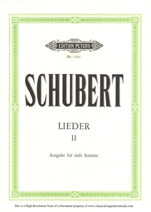 First Additional product image for - Gesänge des Harfners D.478-3  An die Türen will ich schleichen;, Low Voice in F minor, F. Schubert