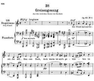 greisengesang d.778,  low voice in a minor, f. schubert