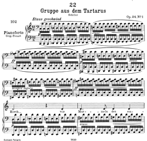 gruppe aus dem tartarus d.583,  low voice in c major, f. schubert