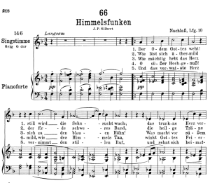 himmelsfunken d.651,  low voice in f major, f. schubert