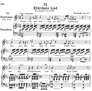 Klärchen's Lied D.210,  Low Voice in E-Flat Major, F. Schubert | eBooks | Sheet Music