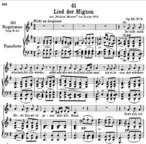 """lied der mignon d.877-3 """"so lasst mich scheinen"""",  low voice in g major, f. schubert"""