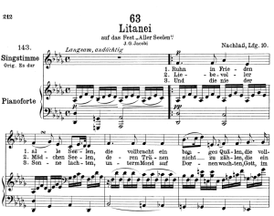 "litanei d.343 ""am tage aller seelen"",  low voice in d-flat major, f. schubert."