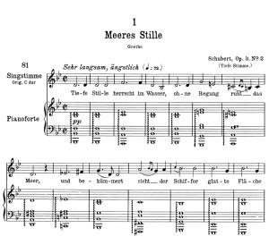 Meeres stille D.216 in B Flat Major,  Low Voice in B-Flat Major, F. Schubert. | eBooks | Sheet Music