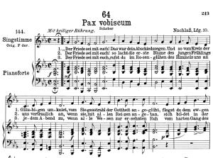 pax vobiscum d.551,  low voice in e-flat major, f. schubert