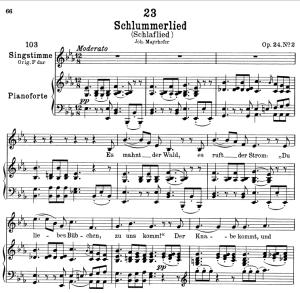 schlaflied (schlummerlied) d.527,  low voice in e-flat major, f. schubert