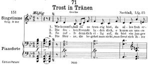 trost in tränen d.120,  low voice in b-flat major, f. schubert
