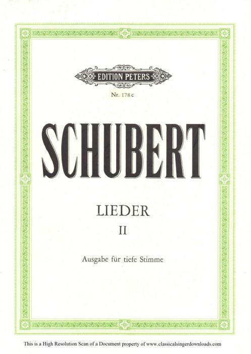 "First Additional product image for - Wanderers nachtlied D.224 ""Der du von dem Himmel bist"",  Low Voice in D-Flat Major, F. Schubert"