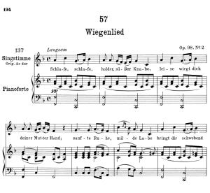 "wiegenlied (lullaby) d.498 ""schlafe, schlafe, holder, süsser knabe"",  low voice in f major, f. schubert"