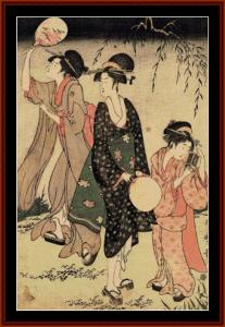 Catching Fireflies - Asian Art cross stitch pattern by Cross Stitch Collectibles | Crafting | Cross-Stitch | Wall Hangings