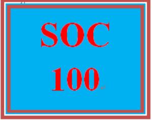 SOC 100 Entire Course | eBooks | Education
