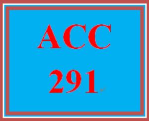 ACC 291 Week 5 Financial Reporting Problem II | eBooks | Education