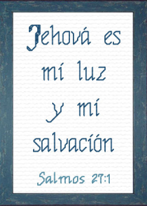 Jehova es mi Luz | Crafting | Cross-Stitch | Religious