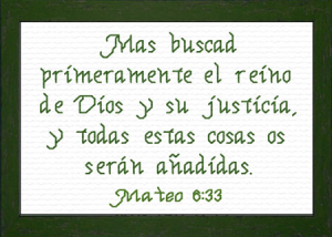 Buscad Primeramente | Crafting | Cross-Stitch | Religious