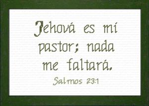 Jehova es mi Pastor | Crafting | Cross-Stitch | Religious