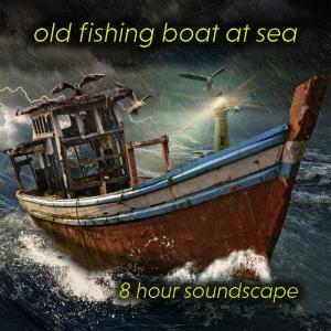old fishing boat at sea