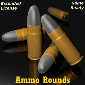 ammo rounds for game dev (blend, dae, fbx, obj)