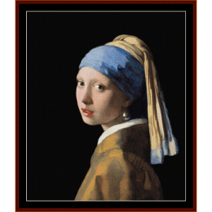 girl with pearl earring, 2nd ed. - vermeer cross stitch pattern by cross stitch collectibles