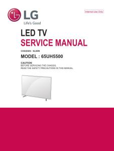 LG 65UH5500 Television Original Service Manual + Schematics | eBooks | Technical