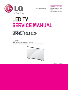 LG 60LB5200 Television Original Service Manual + Schematics | eBooks | Technical