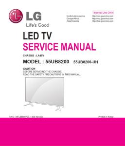 lg 55ub8200 uh la48v chassis television original service manual + schematics