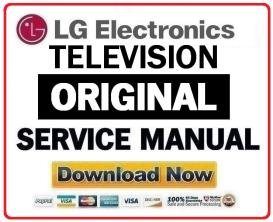 lg 50pq30 television original service manual + schematics