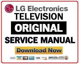 lg 43lh5000 ua television original service manual + schematics