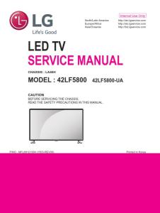 lg 42lf5800 television original service manual + schematics