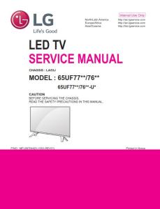 LG 65UF7700 65UF7690 65UF7650 4K Ultra HD Smart LED TV Original Service Manual + Schematics | eBooks | Technical