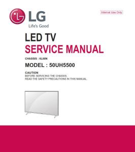 lg 50uh5500 television original service manual + schematics