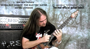 "michele ""dr.viossy"" vioni - l. van beethoven - moonlight sonata for electric guitar (metal version)"