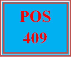 POS 409 Week 2 Learning Team: Test Questions | eBooks | Education