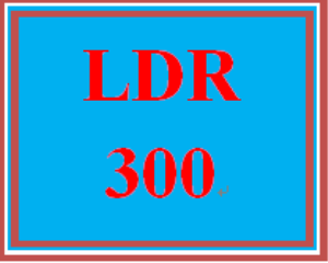 ldr 300 week 4 project status report