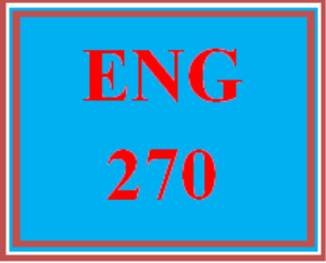 eng 270 entire course