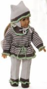 dollknittingpatterns modell 0170d ingrid - sweater, hose, mütze und schuhe-(deutsch)