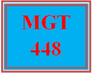 MGT 448 Week 3 Case Study | eBooks | Education