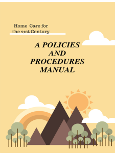 policies & procedures  2019