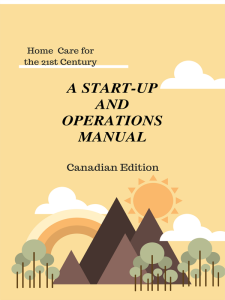 Home Care Start-Up & Operations Manual-CAD | eBooks | Business and Money