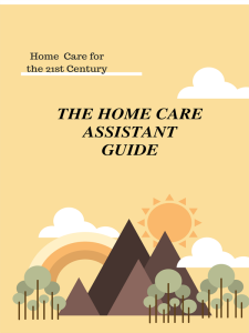 the home care assistant guide 2018 pdf