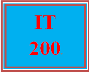 it 200 week 1 supporting activity: practice with productivity tools