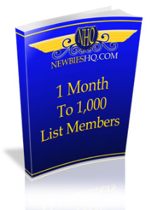 1 month to 1,000 list members