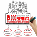 19,000 clipart svg pack, vectors, plus 150,000 web and banner elements and 120+ background music | Photos and Images | Clip Art