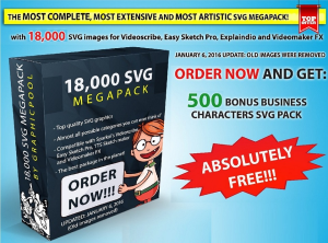 18,000 svg images for whiteboard animations plus 120 free premium happy whiteboard music and 10 character packs. svg. svg pack. online svg.