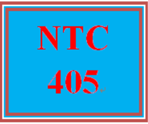NTC 405 Week 1 Individual: Hands-On Projects | eBooks | Education