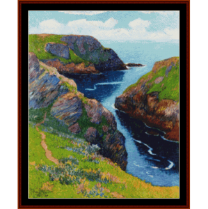 belle ile - moret cross stitch pattern by cross stitch collectibles