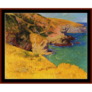 belle ile en mer, cliffs - moret cross stitch pattern by cross stitch collectibles