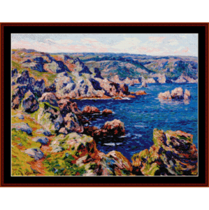 castle roch - moret cross stitch pattern by cross stitch collectibles